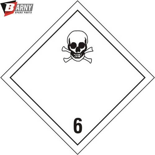 Etichetta adesiva tossico classe 6.1 A.D.R.