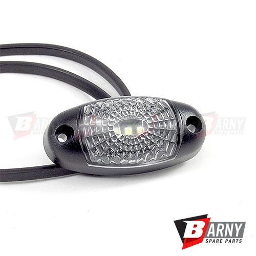 Luce ingombro frontale bianca a 3 led barny spare parts for Luce bianca led