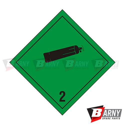 Etichetta adesiva classe 2 gas non infiammabili, non tossici classe 2.2 A.D.R.