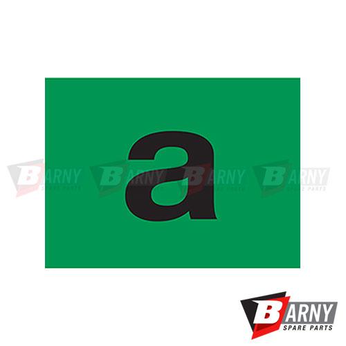 Etichetta adesiva circolazione autorizzata (A)